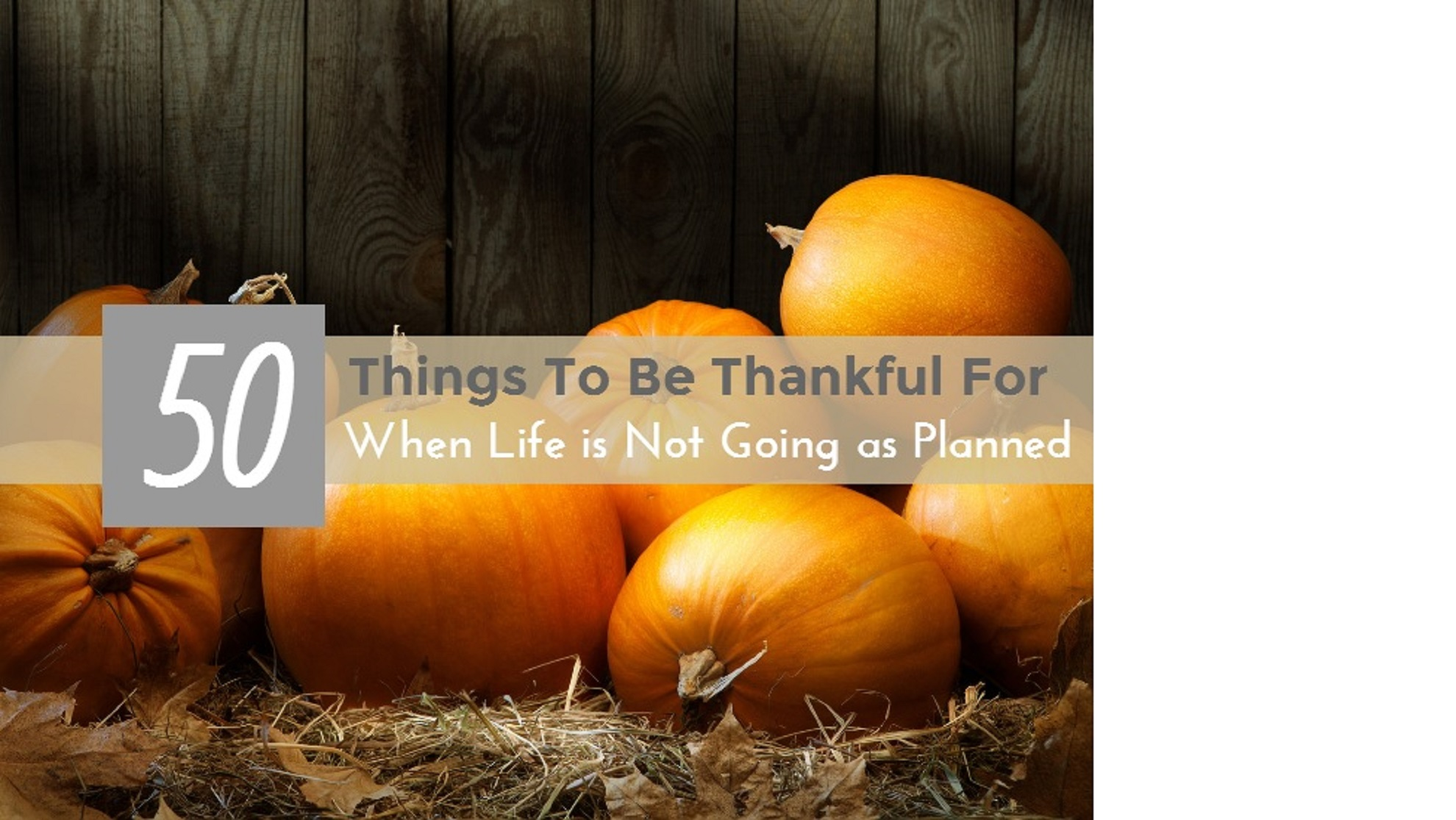 50 Things To Be Thankful For When Life is Not Going as Planned (#26-50)