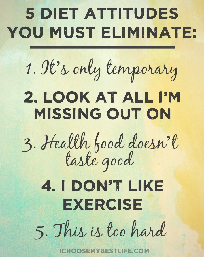 5 diet attitudes you must eliminate
