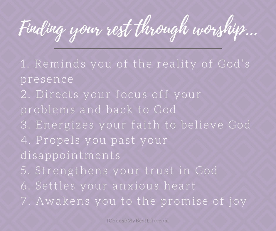 Benefits of finding rest in worship...