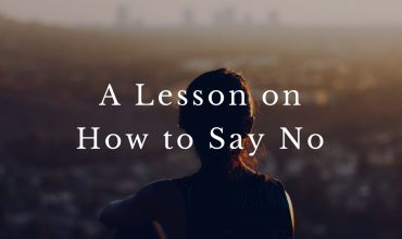 A Lesson on How to Say No