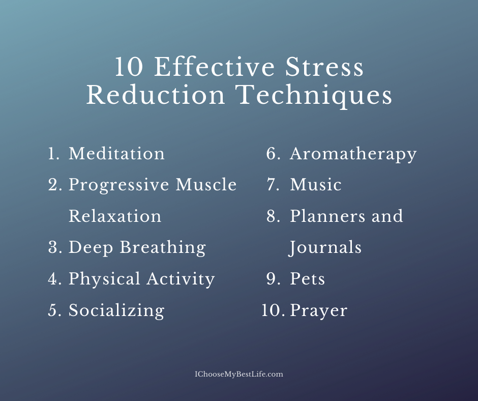 10 effective ways to reduce stress